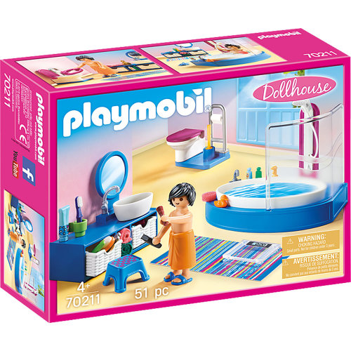 Playmobil 70211 Dollhouse Bathroom with Tub