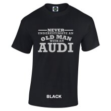 Never Underestimate an Old Man with an Audi Mens Crew Neck Short Sleeve Custom Personalized T-Shirts