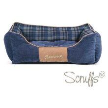 Scruffs Highland Box Dog Bed - Blue, Small
