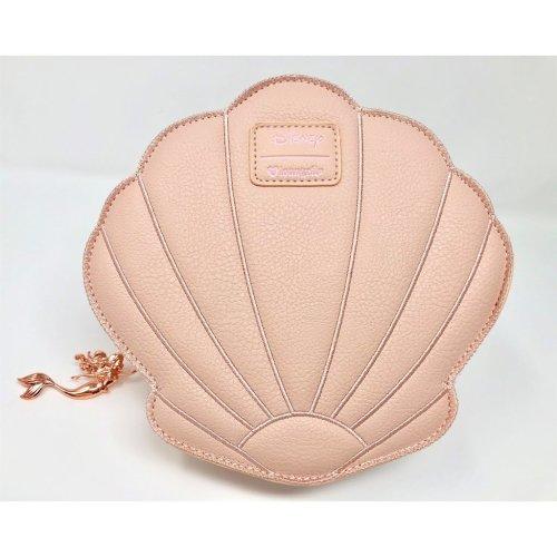 Hand Bag - Disney - Little Mermaid Ariel Rose Gold Shell New wdtb1316