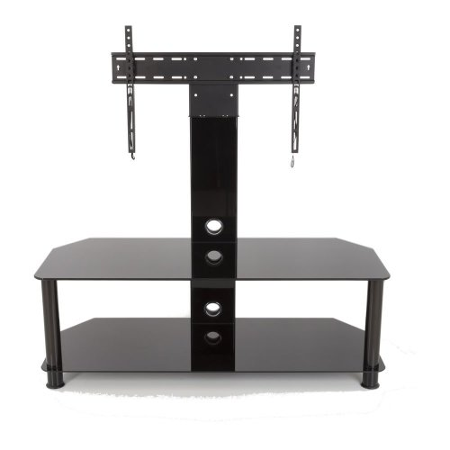 AVF SDCL1140BB 1140 mm TV Stand with Bracket - Black, Black