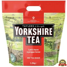 Taylors Yorkshire Tea - 480 Tea Bags 1.5 Kg - Tracked Service
