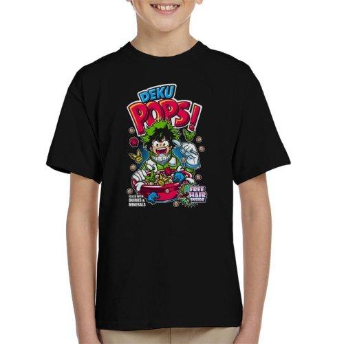 (Large (9-11 yrs)) Deku Pops My Hero Academia Cereal Kid's T-Shirt