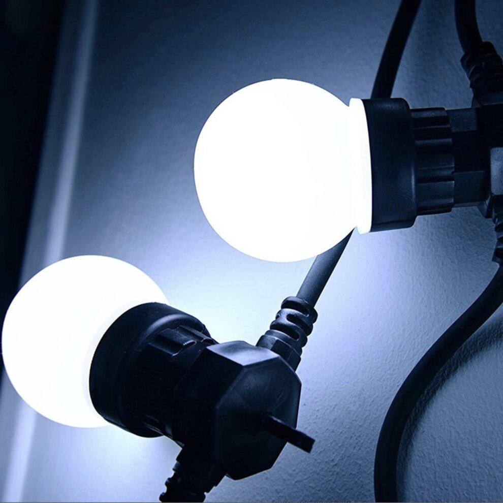 HERCULES RGB RATED IP44 WATERPROOF LED FESTOON STRING LIGHTS 42FT CABLE 20 BULBS