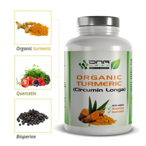 DNA Lean Turmeric (CIRCUMIN LONGA) and Black Pepper extract (BIOPERINE) with Quercetin for enhanced absorption 120 x 600mg vegetable capsules...