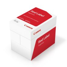 Canon A4 red label, superior business paper, suitable for all printers, brilliant, white CIE 168(optimised protective box). 5x500