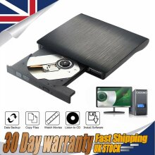USB3.0 External DVD RW Drive CD Rewriter Burner Reader For Mac Laptop