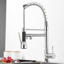 Kitchen Faucets with Pull Down Sprayer Two Head Kitchen Sink Tap