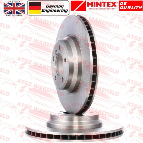 FOR BMW 335d E90 E91 E92 E93 M SPORT FRONT PREMIUM MINTEX BRAKE DISCS 348mm