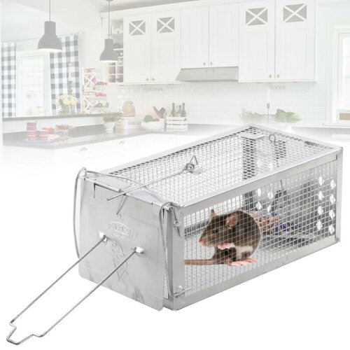 1XRat Catcher mousetrap Spring Cage Trap Humane Animal Rodent