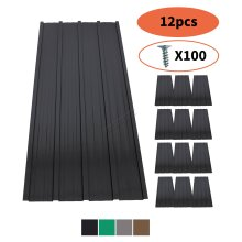 BIRCHTREE 12X Roof Sheets Corrugated Garage Shed Metal Roofing Carport 129x45cm
