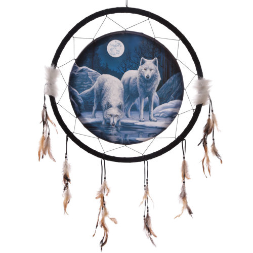 Decorative Wolf Warriors of Winter 60cm Dreamcatcher