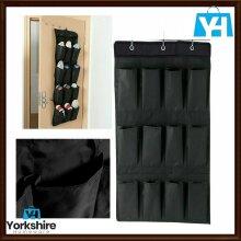 12 Pockets Over Door Hanging Bag Box Shoe Rack Hanger Storage Organizer UK New