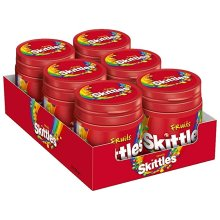 12 x  Skittles Fruits Tubs, 125g Resealable 2 Trays Of 6