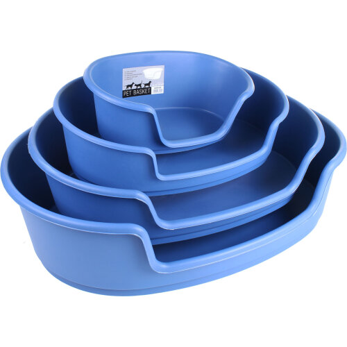 (70cm x 48cm x 20.9cm) Blue Plastic Dog Bed Waterproof Pet Cat Animal Sleeper Basket