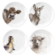 Wrendale Designs Set of 4 Coupe Appetiser Plates