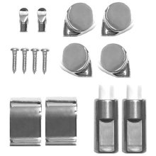 Roca Senso and Giralda Chrome Soft Close Toilet Seat Hinge Set With End Cap Fixings and Dampers