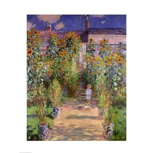 The Artists Garden at Vetheuil 1880 Poster Print by Claude Monet - 18 x 24 in.
