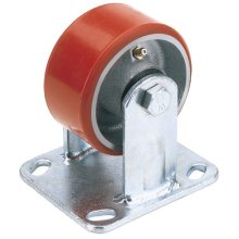 Draper 65534 200mm Dia. Fixed Plate Fixing Heavy Duty Polyurethane Wheel - S.W.L. 500Kg
