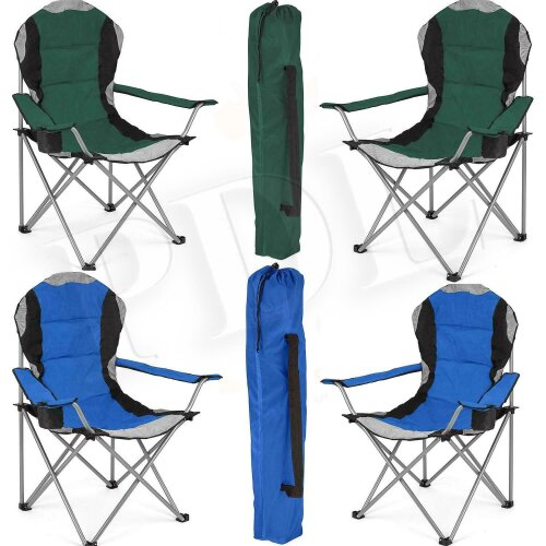 Folding Camping Chair Heavy Duty Padded Steel High