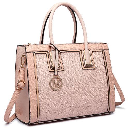 JUST STAR Women Handbag Embroidery Ballerina Top Handle PU Leather Bags
