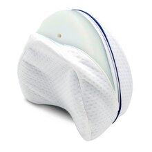 Pregnancy Body Memory Foam Pillow Orthopedic Knee Leg Wedge Foot Cushion for Side Sleeper Sciatica Relief or Pillowcase