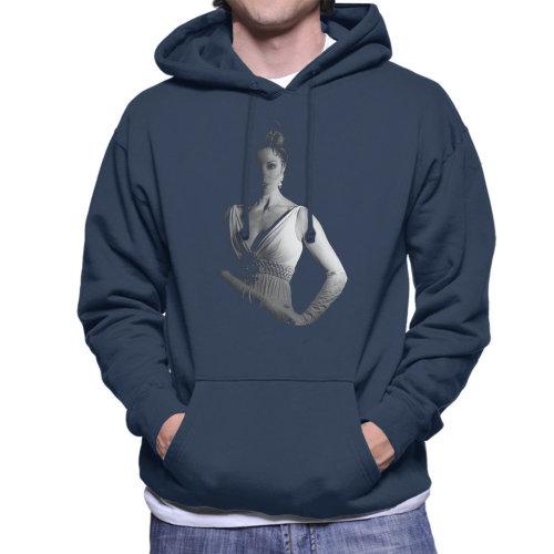 Joan Collins On Set Of Quest 1970 Men's Hooded Sweatshirt