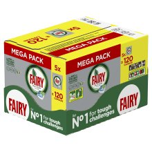 Fairy Dishwasher Tablets Regular, Pack of 120, Built-in salt & rinse aid action