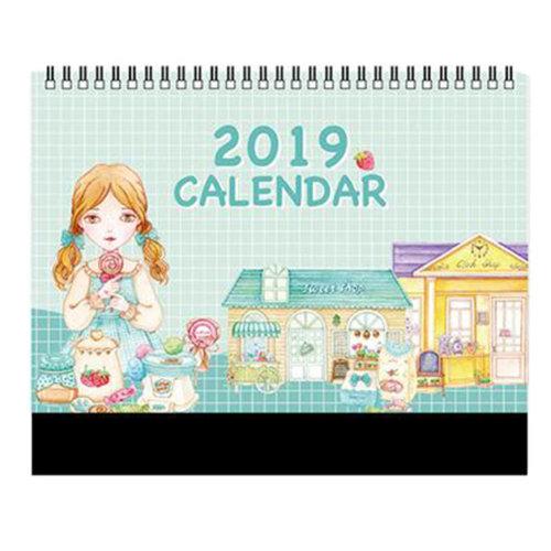Small Monthly Calendar Academic Year Desk Calendar 2018-2019 Desk Scheduler-A17