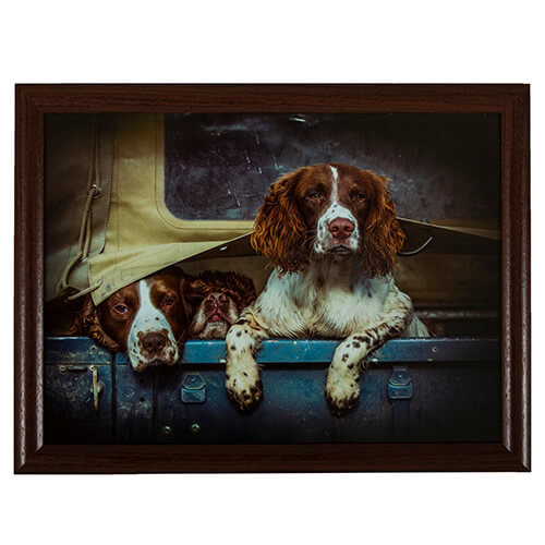 Country Matters Spaniels in Landy Lap Tray