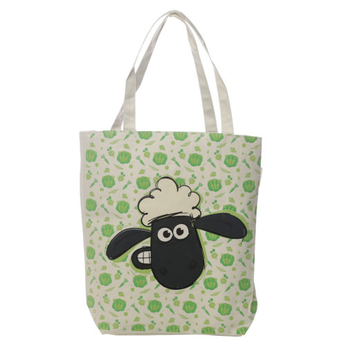 Handy Cotton Zip Up Shopping Bag - Shaun the Sheep Pattern
