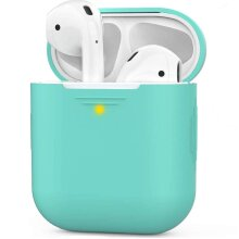 Case For Apple Airpods 2 Earphones Silicone TPU Soft Skin Charger Cover - (3rd Generation) (Green)
