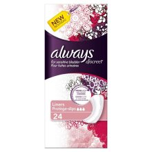 Always Discreet Sensitive Bladder Incontinence Panty Liners OdourLock Pack of 24