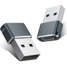 Type C to USB A Charger Cable Adapter (2 Pack)