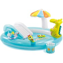Intex Kids' Inflatable Paddling Pool With Water Slide | Inflatable Play Centre