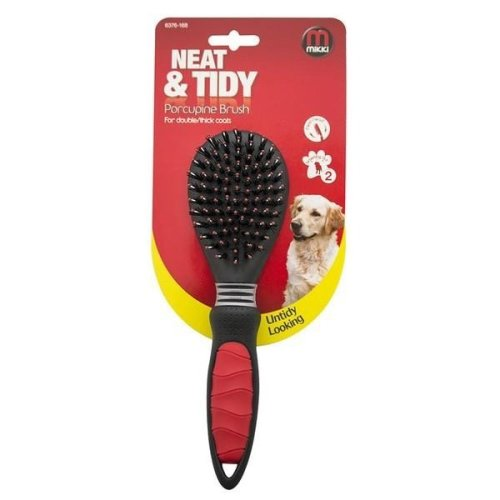 Mikki Porcupine Dog Grooming Brush For Double/Thick Coats