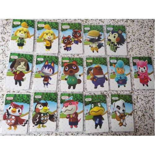 (Standard 16pcs Cards) Animal Crossing Series AMIIBO NFC TAG Cards for Switch WII U New3DS