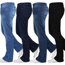 Ze Enzo Mens Bootcut Jeans Wide Leg Flared Denim Pants