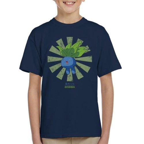 Oddish Retro Japanese Pokemon Kid's T-Shirt