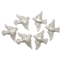 6 - 3 Pairs Edible Doves Christening Wedding Cupcake Cake Toppers