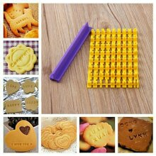 Alphabet Number Letter Cookie Biscuit Stamp Mold Cutter Mould Tool