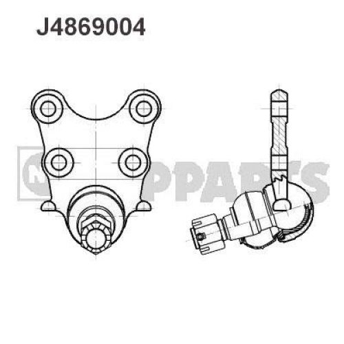 Nipparts Front Ball Joint J4869004 for Vauxhall Frontera 2.2 Litre Petrol (04/95-08/04)