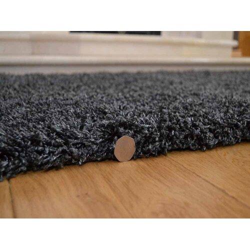 Abaseen Soft Charcoal Luxurious 5cm Dense Pile Rug
