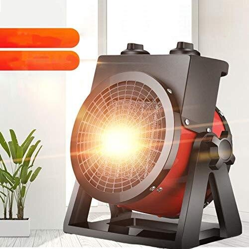 Heater Fan, Portable Electric Fan Heater Stainless Steel Patio Heaters Adjustable Heat Lamp Patio Outdoor Heat With Safety Protection for Home Offic