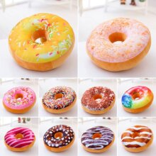 Soft Plush Pillow Stuffed Seat Pad Sweet Donut Foods Cushion Cover Case Colourful