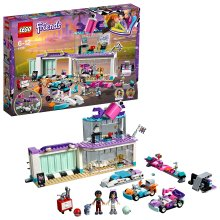 LEGO 41351 Friends Heartlake Creative Tuning Shop with Rotating Showroom, Emma and Dean Mini Dolls, Toy Car Racing Set for Kids