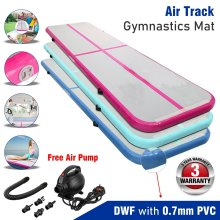 Inflatable Air Track Tumbling Gymnastic Mat Floor Mat + Pump