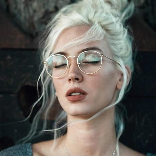 Round Glasses Frame Woman Men Retro Myopia Optical Clear lens Eyeglasses
