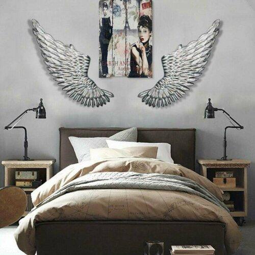 100cm Banksy Large Rustic Angel Wing Wall Mount Hanging Art Bedroom L