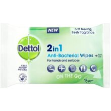 Dettol 2 in 1 Hands & Surface Pocket wipes